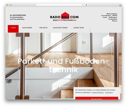 Theme WordPress Machinist - radobau.com
