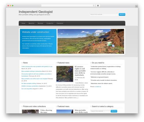 WordPress theme Enterprise Child Theme - independentgeologist.com