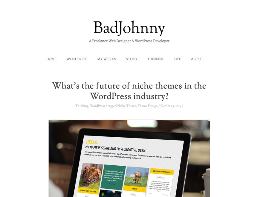 BadJohnny free WP theme