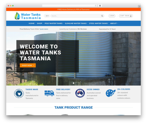 Best WordPress template Flatsome - watertankstasmania.net.au