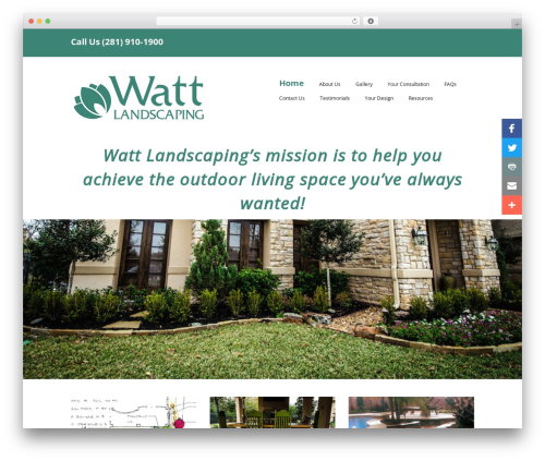 Best WordPress template Make - wattlandscaping.com
