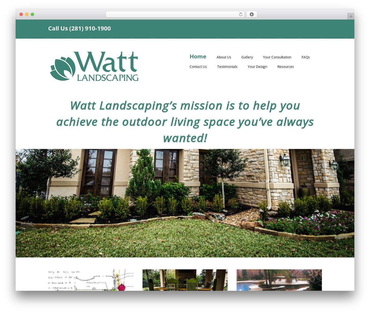 Best WordPress template Make - wattlandscaping.com