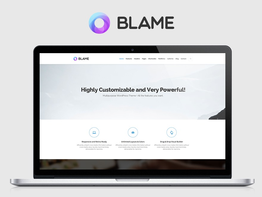 Best WordPress theme Blame
