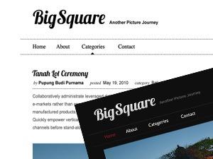 Big Square WordPress blog template