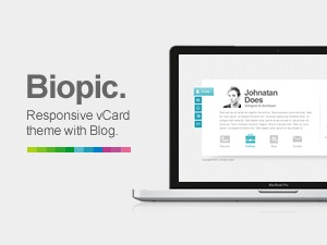 Biopic - Responsive vCard WordPress Theme WordPress portfolio template