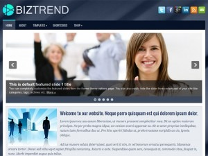 BizTrend WordPress portfolio template