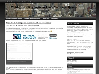 Black skyline WordPress theme image