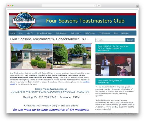 WordPress wp-xml-sitemap plugin - fourseasonstoastmasters.com