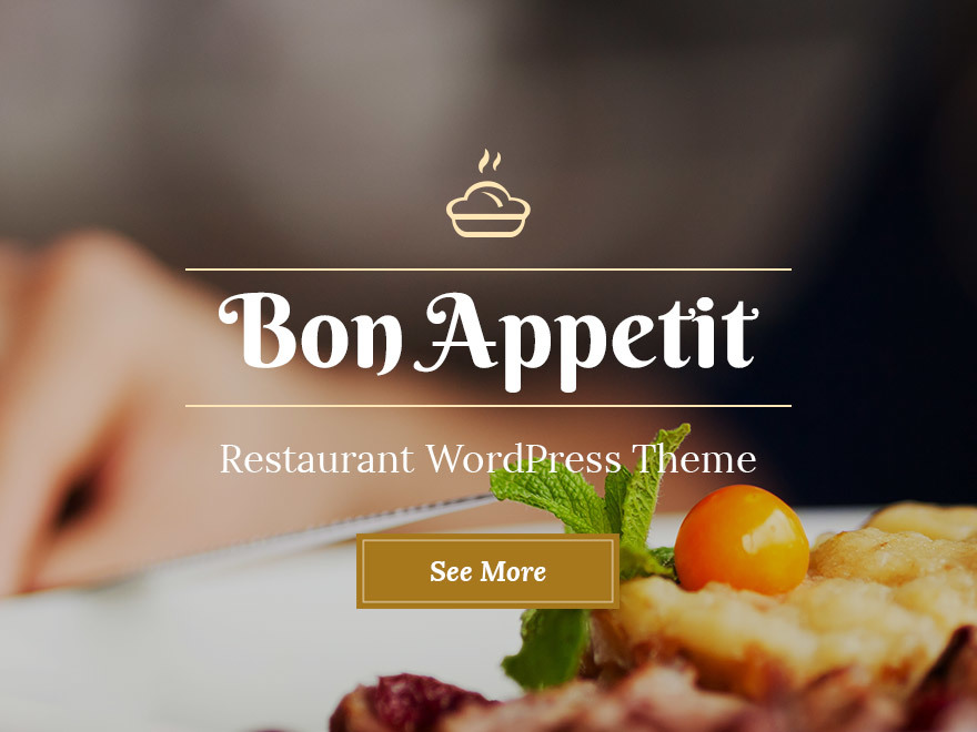 Bon Appetit WordPress store theme