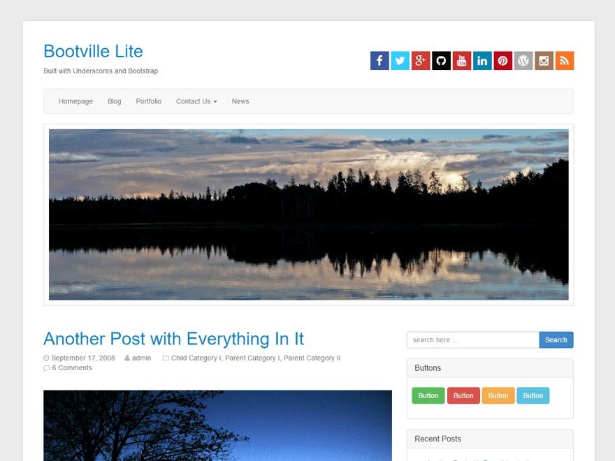 Bootville Lite top WordPress theme