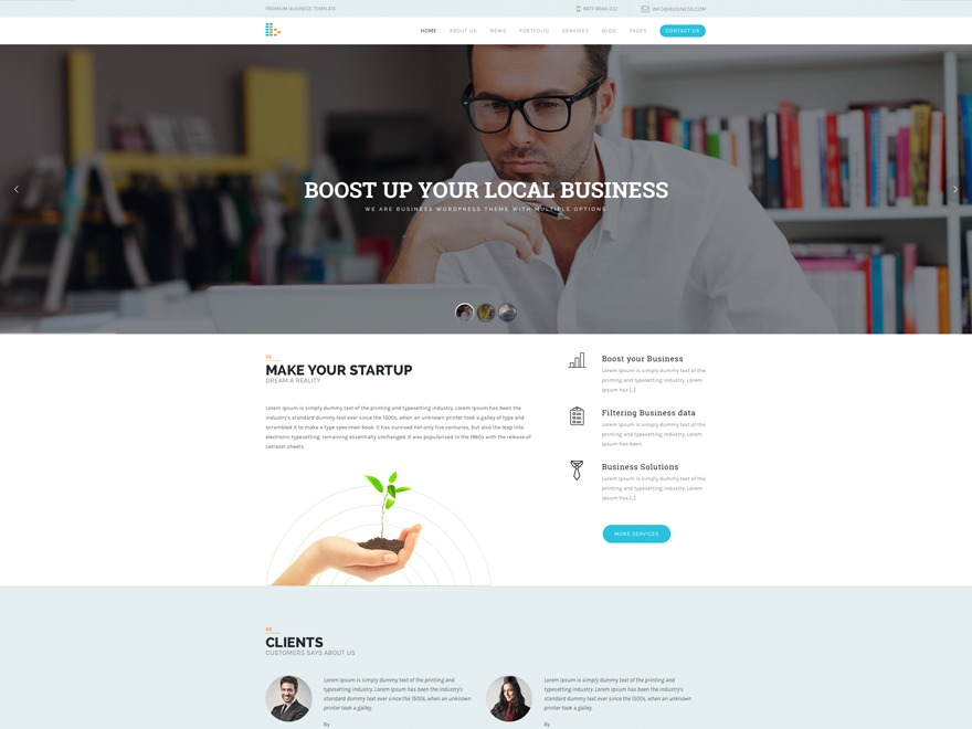 bPlus business WordPress theme