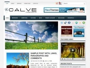 Calve WordPress news template