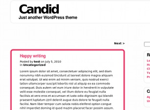 Candid WordPress template