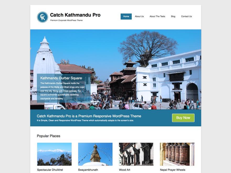 Catch Kathmandu Pro WordPress blog template