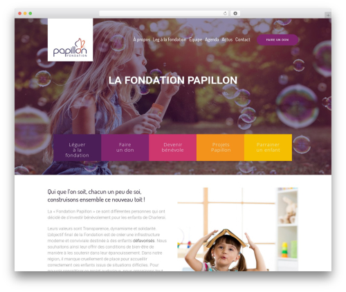 Children Charity WordPress theme design - fondationpapillon.be