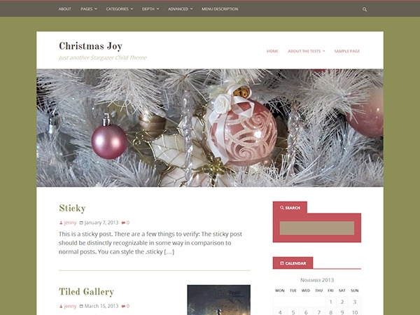 Christmas Joy WP template