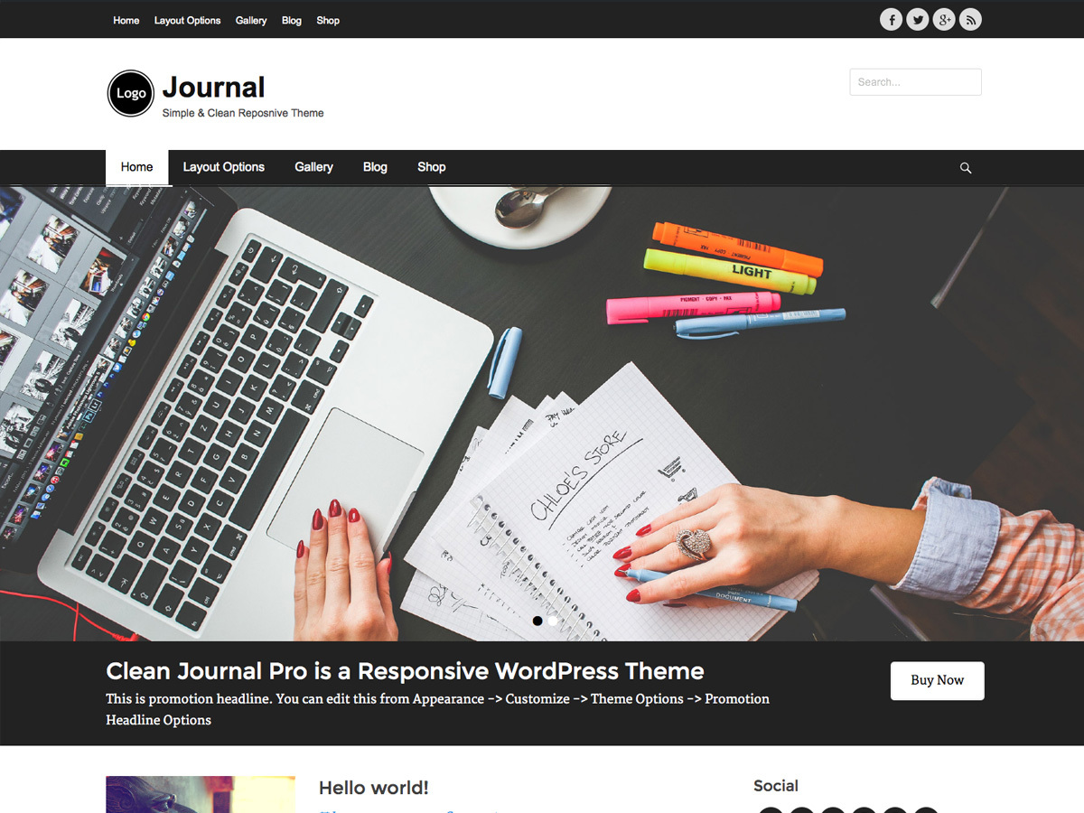 Clean Journal Pro business WordPress theme
