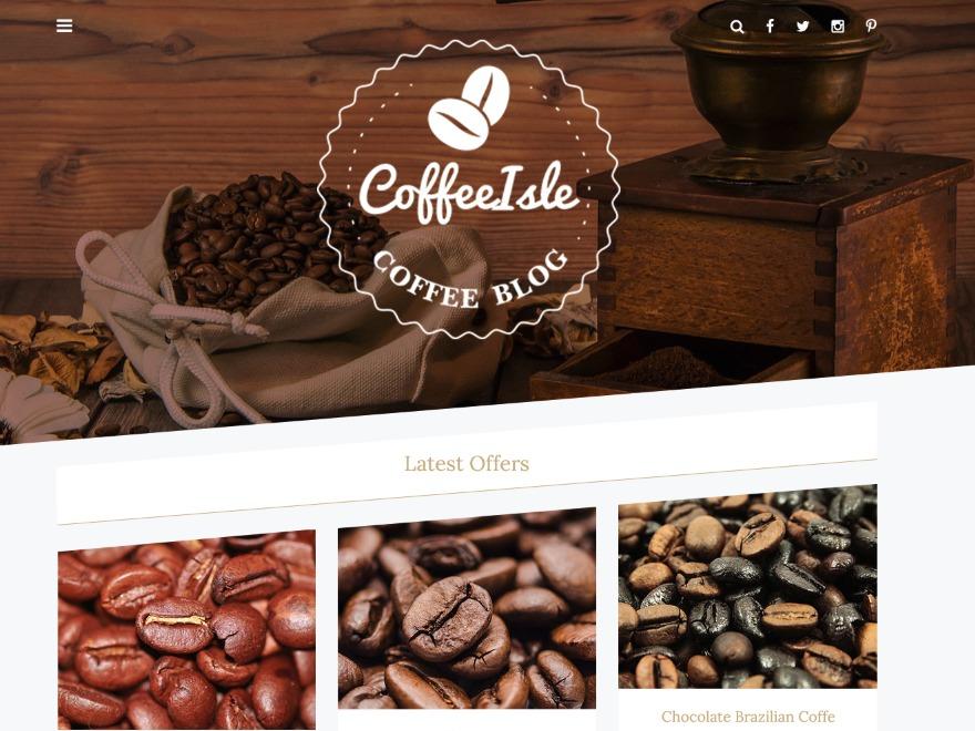 Coffeeisle WordPress ecommerce theme