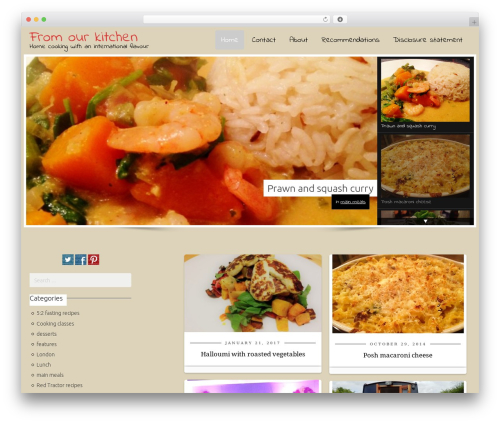 CookingPress WordPress website template - from-our-kitchen.com