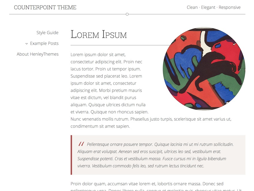 Counterpoint WordPress blog template