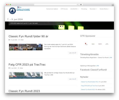 Dazzling WordPress theme - fynrundt.dk