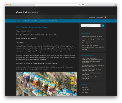 deCoder WordPress template - whereami.org
