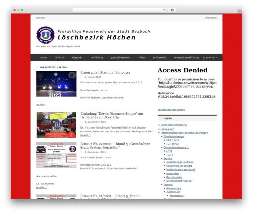 deFacto premium WordPress theme - feuerwehr-hoechen.de