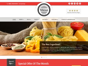 Delicieux premium WordPress theme