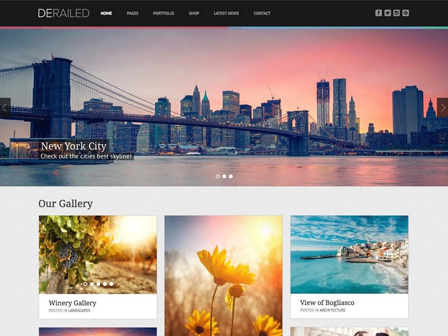 DeRailed Progression best WordPress template