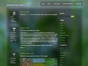 Dewdrop WordPress template