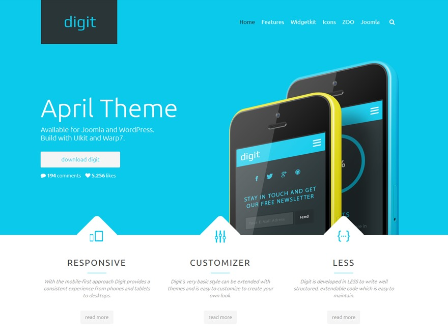 Digit premium WordPress theme
