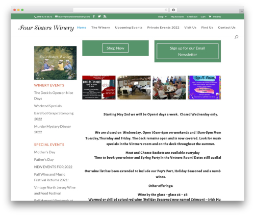 Free WordPress Carousel Slider plugin - foursisterswinery.com