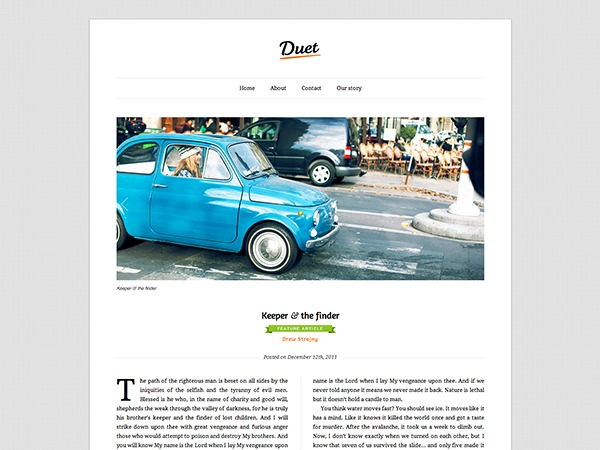 Duet WordPress magazine theme