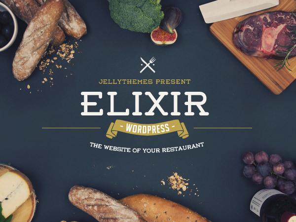 ELIXIR Jellythemes best restaurant WordPress theme