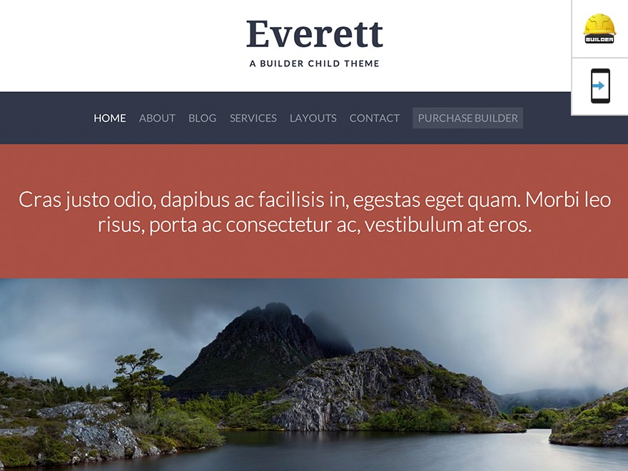 Everett - Custom premium WordPress theme