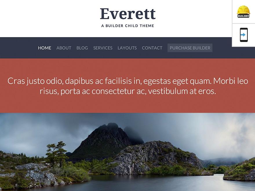 Everett - Custom premium WordPress theme