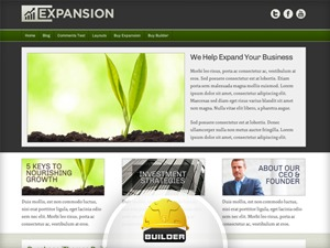 Expansion top WordPress theme