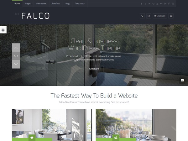 Falco WordPress website template