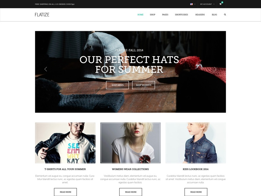 Flatize Fashion Ecommerce best WooCommerce theme