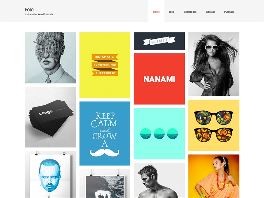 Folo template WordPress