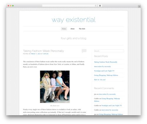 Forever WordPress blog theme - wayexistential.com