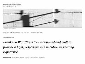 Frank WordPress theme