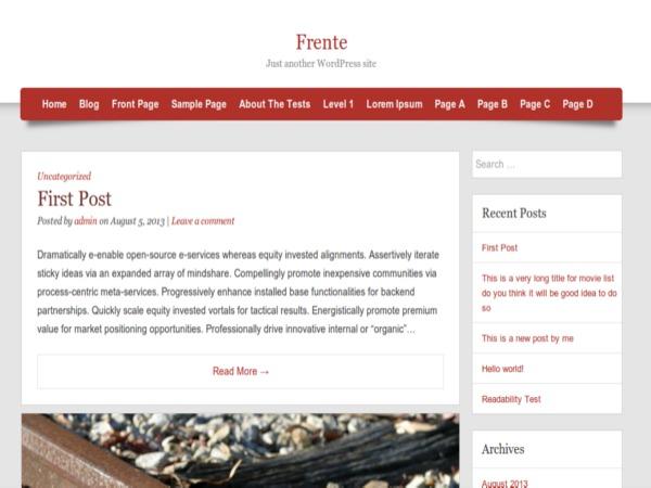 Frente best WordPress gallery