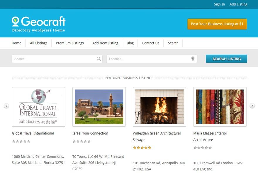 Geocraft V2 best WordPress gallery