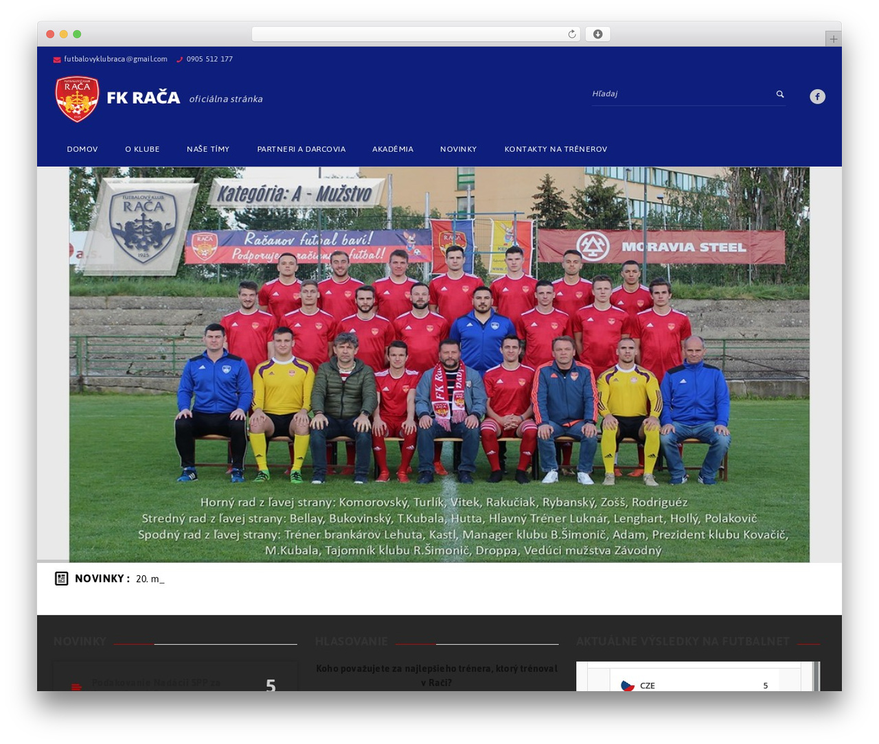 GoalKlub WordPress theme - fkraca.sk