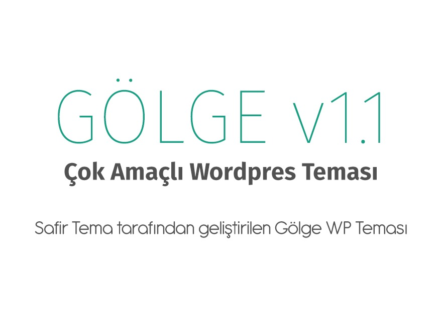 Gölge Wordpress Teması template WordPress