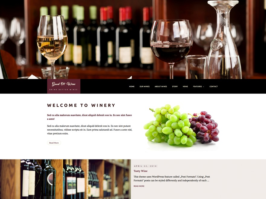 Good Ol' Wine WordPress template
