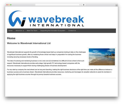 Gridiculous company WordPress theme - wavebreak.org.au