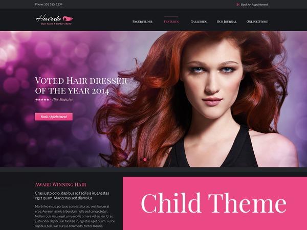 Hairdo Child Theme WordPress theme