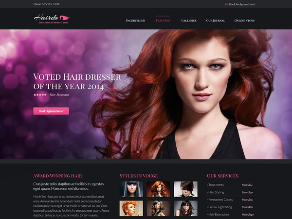 Hairdo WordPress shopping theme